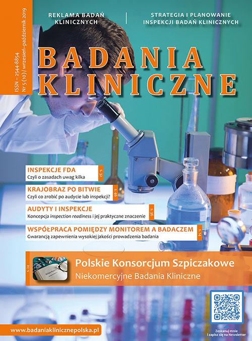 Badania Kliniczne okładka wydanie 5/2019