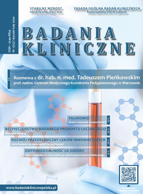 """Badania Kliniczne 1 2020 - Czasopismo """"Badania Kliniczne"""""""