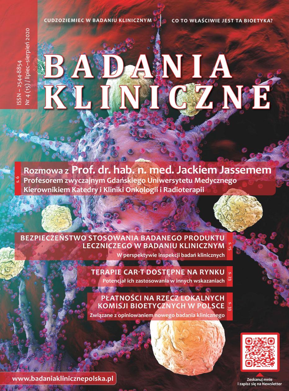 """okladka Badania Kliniczne 4 2020 - Czasopismo """"Badania Kliniczne"""""""