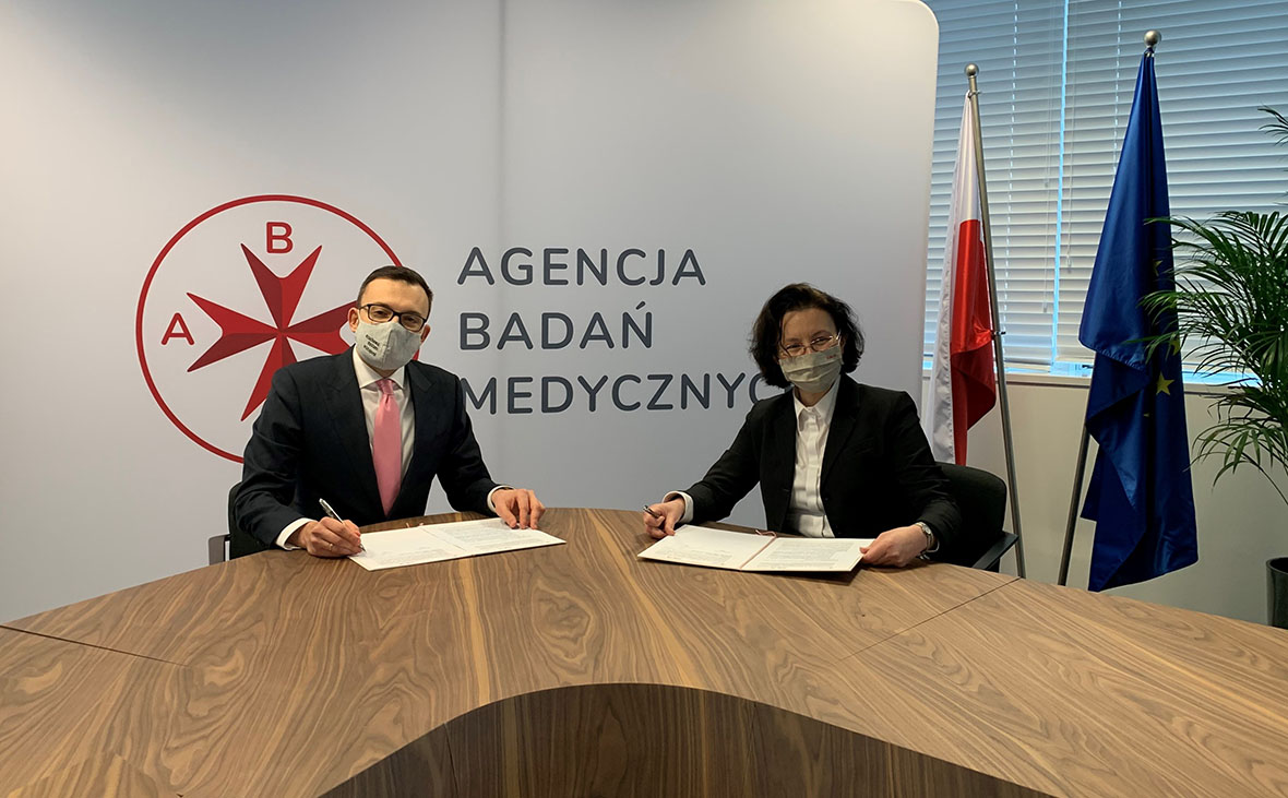 Radoslaw Sierpinski Grazyna Zebrowska - ABM  i NAWA zawarły porozumienie na rzecz umiędzynarodowienia nauk medycznych