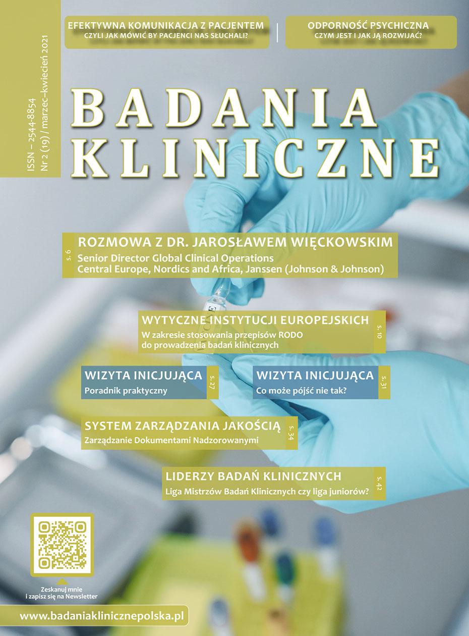 """Badania Kliniczne 2 2021 - Czasopismo """"Badania Kliniczne"""""""