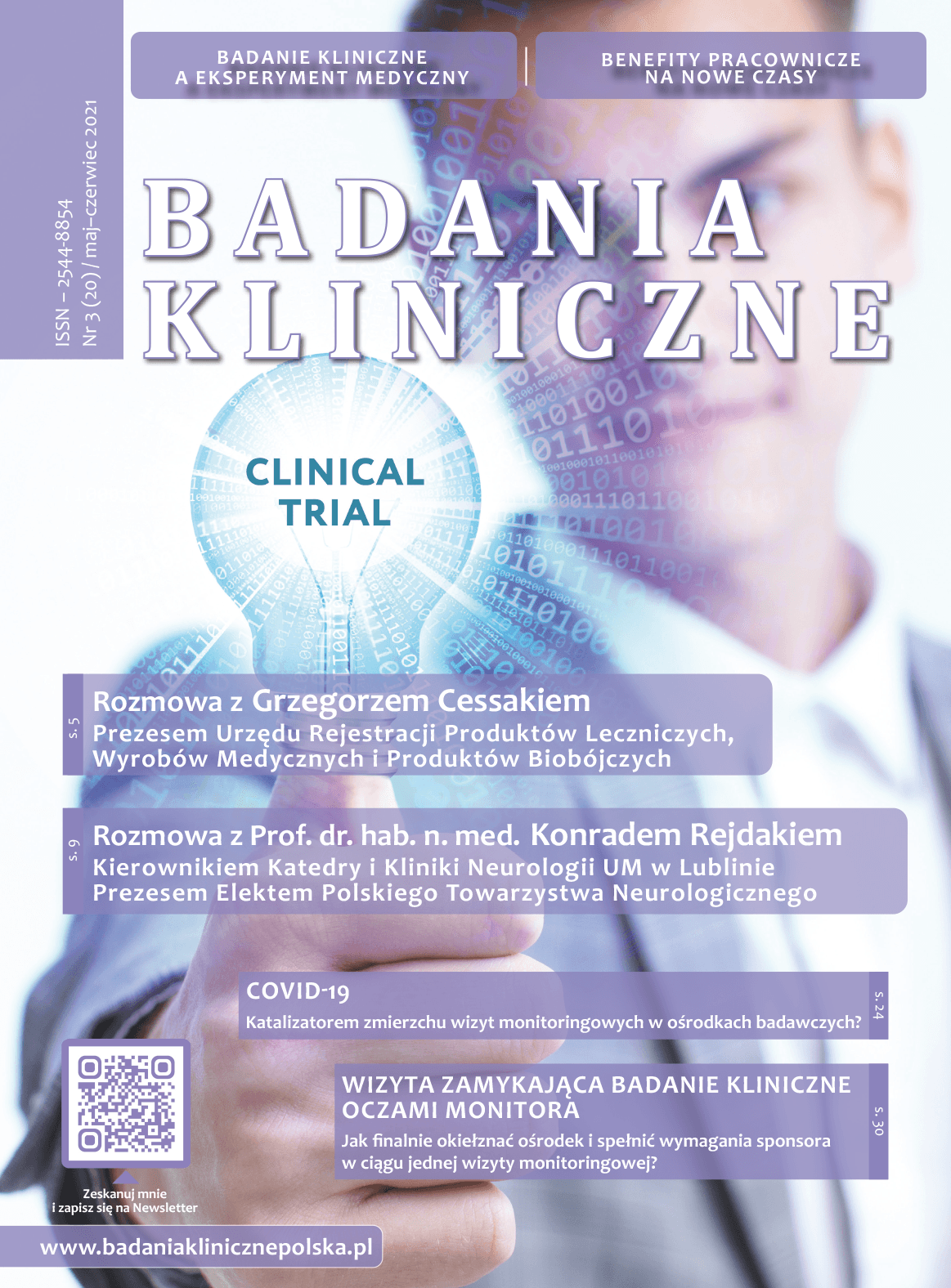 """okladka Badania Kliniczne 3 2021 big.jpg - Czasopismo """"Badania Kliniczne"""""""